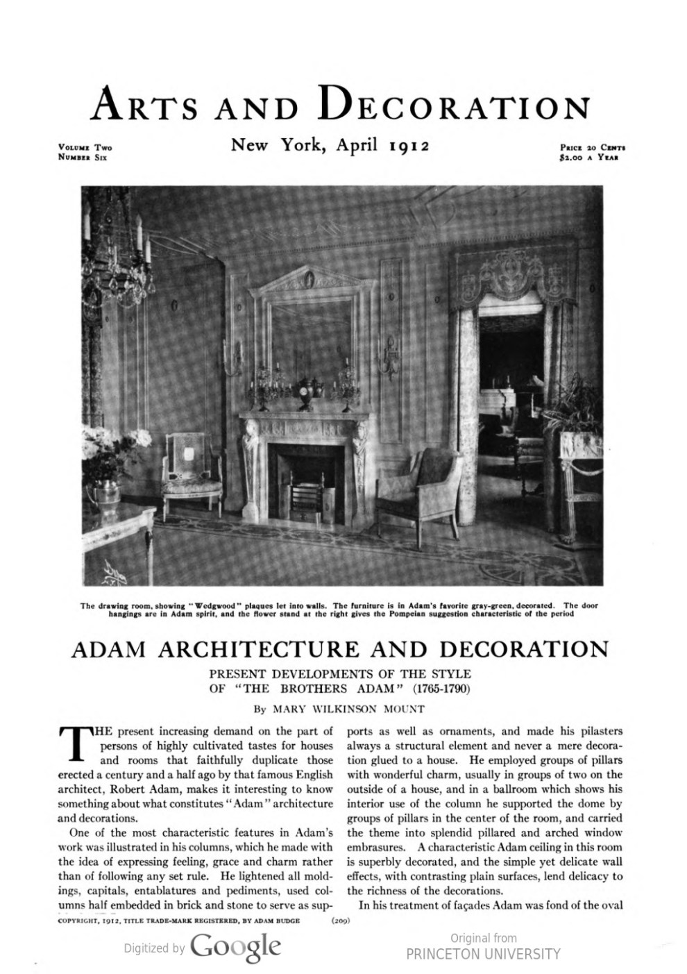 "Arts and Decoration, New York, NY, ""Exhibitions at the Galleries"", April, 1912, Volume 2, Number 6, page 228, not illustrated"