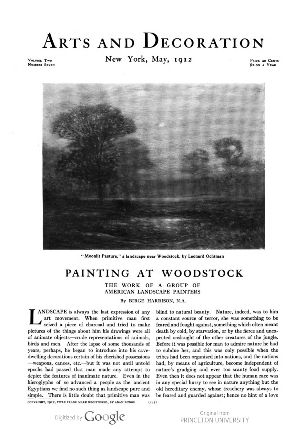 "Arts and Decoration, New York, NY, ""Exhibitions at the Galleries"", May, 1912, Volume 2, Number 7, page 267, not illustrated"