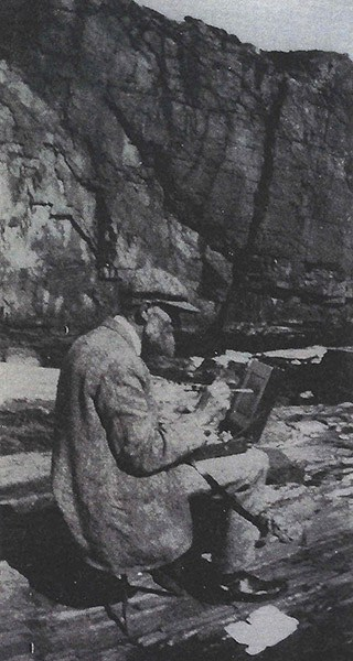 Emil Carlsen sketching outdoors (probably Ogunquit, Maine). Archives of American Art (Smithsonian Institution)