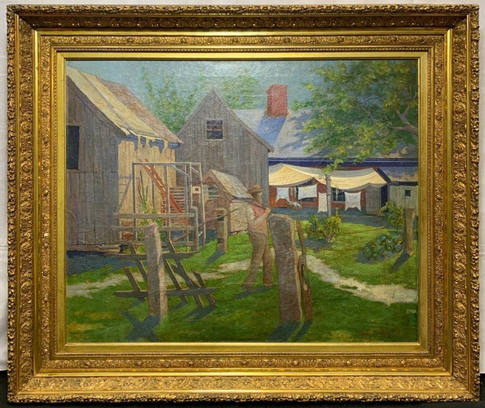 Emil Carlsen : Landscape with figure, ca.1918.