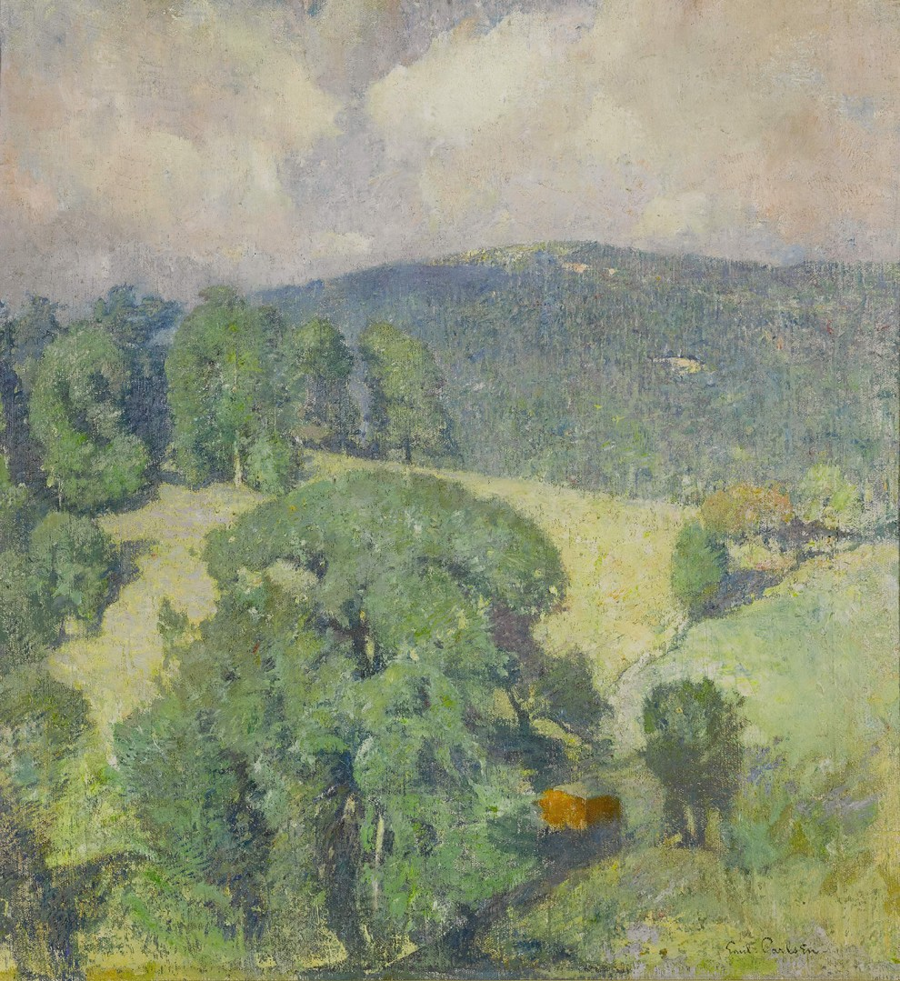 Emil Carlsen : Connecticut hillside, 1920.