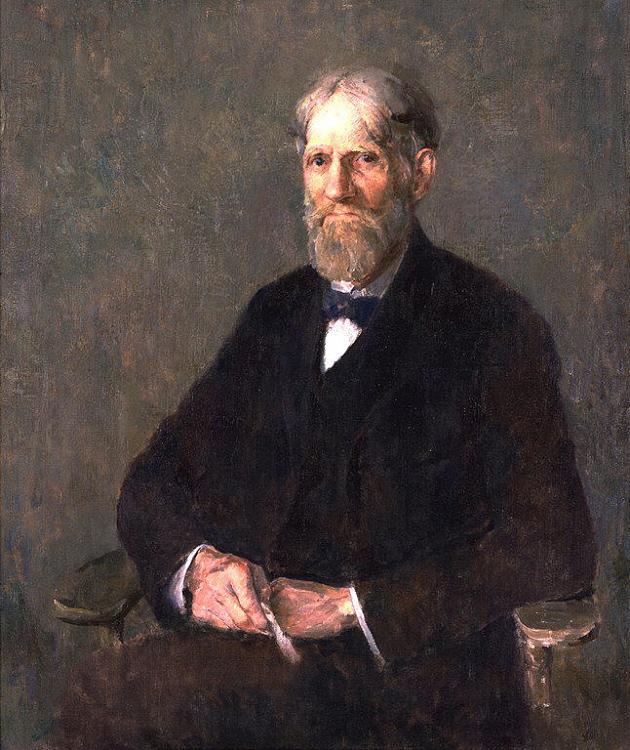 Emil Carlsen : Self-portrait [version 2], ca.1920.