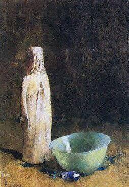 Emil Carlsen : The jade bowl, ca.1919.