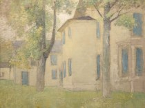 Emil Carlsen : House with Blue Shutters, ca.1904.