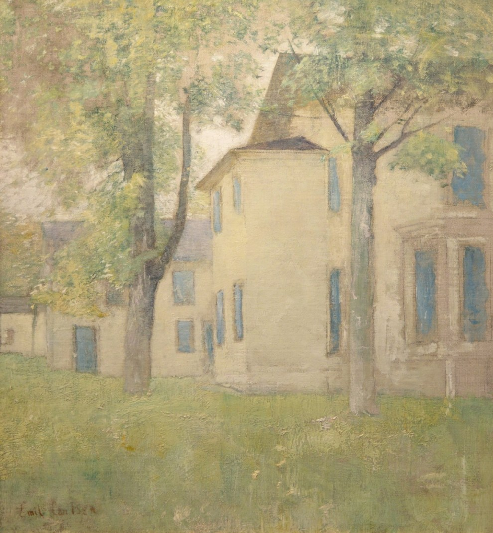 Emil Carlsen House with Blue Shutters, c.1925