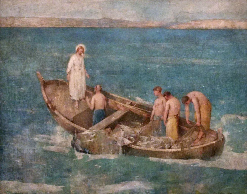 Emil Carlsen : Christ and the fisherman, 1927.