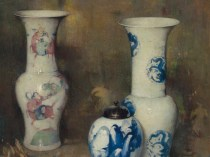 Emil Carlsen : Ming vases [and ginger jar], 1931.