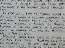"Art Digest, New York, NY, ""Carlsen Is Dead"", Volume 6, Number 8, January 15, 1932, page 2."
