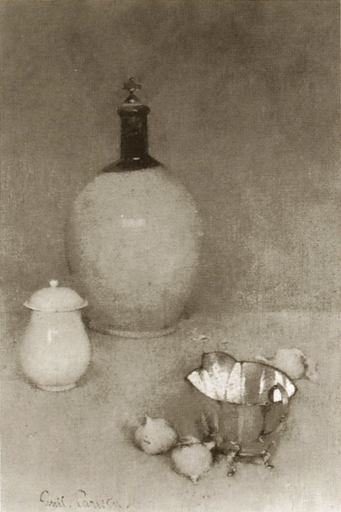 Emil Carlsen Still Life (jug, pot, bottom of kettle) c.1903