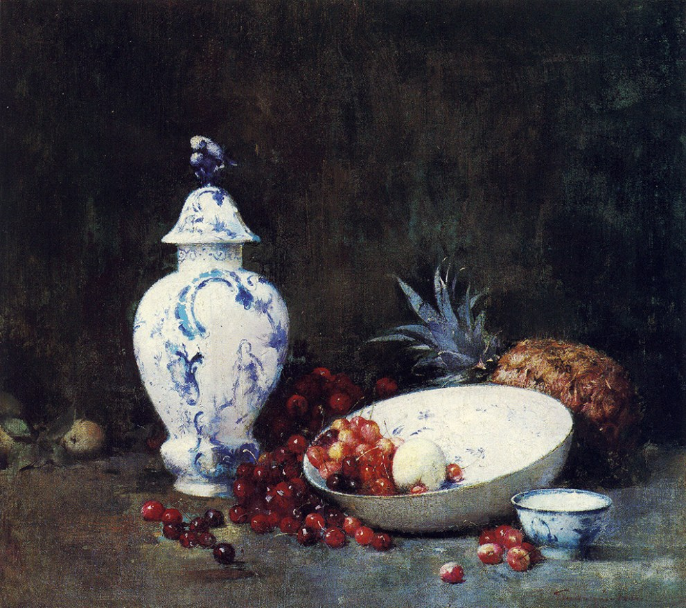 Emil Carlsen China and Cherries, c.1893