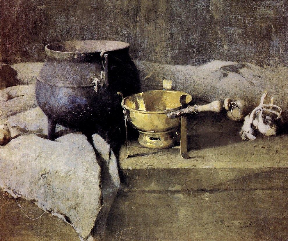 Emil Carlsen Still Life (cauldron and fondue) 1917