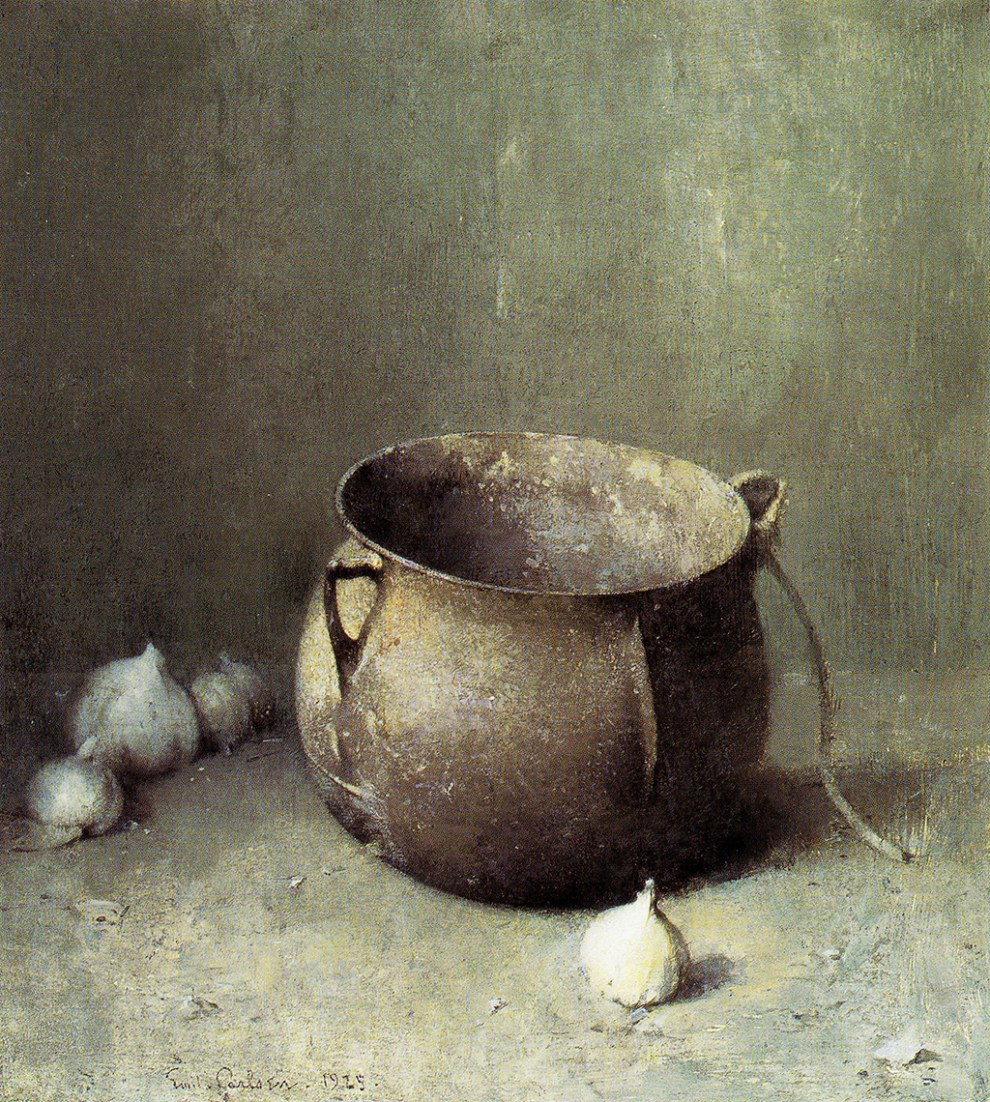 Emil Carlsen Still Life Iron Kettle and Onions, 1925