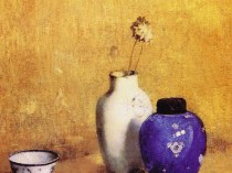 Emil Carlsen : The golden background, ca.1916.