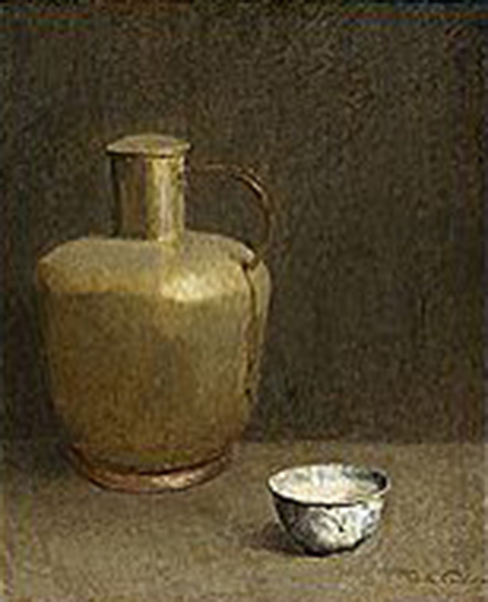 Emil Carlsen Clay Vessel and China Bowl, ca.1922