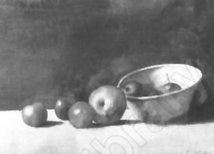 Emil Carlsen Still Life with Apple and Plums c.1894