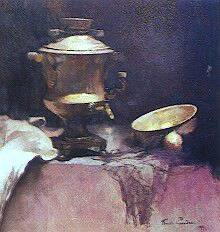 Emil Carlsen : Still life with samovar, ca.1899.