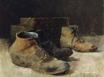 Emil Carlsen : Still life with shoes, ca.1914.