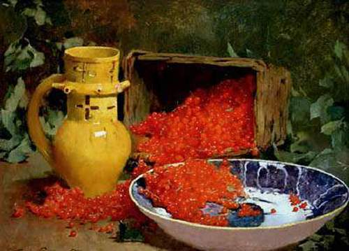 Emil Carlsen Still Life with Red Currants c.1881