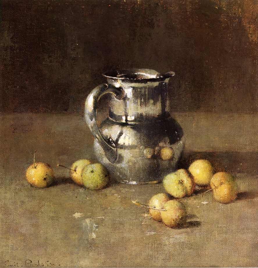 Emil Carlsen Still Life with Pitcher and Pivar (also called Still Life With Pitcher And Fruit) c.1927
