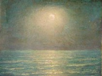 Emil Carlsen Seascape at Sunset