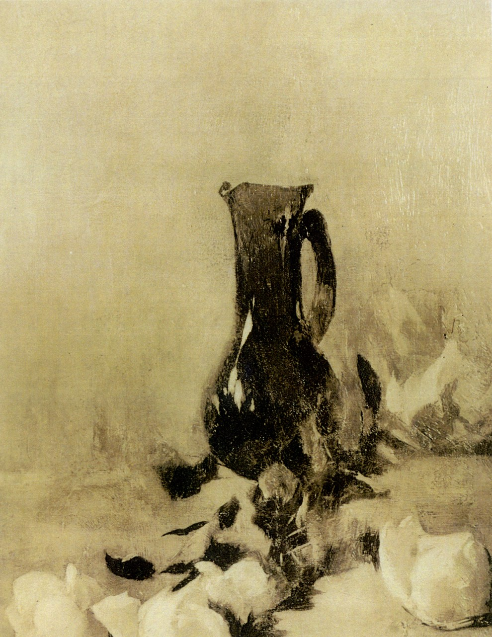 Emil Carlsen Black Vase and Roses, ca.1884