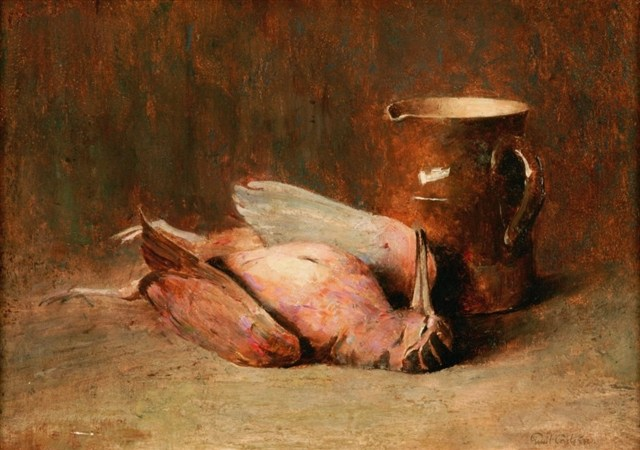Emil Carlsen : Still life with timberdoodle, ca.1892.