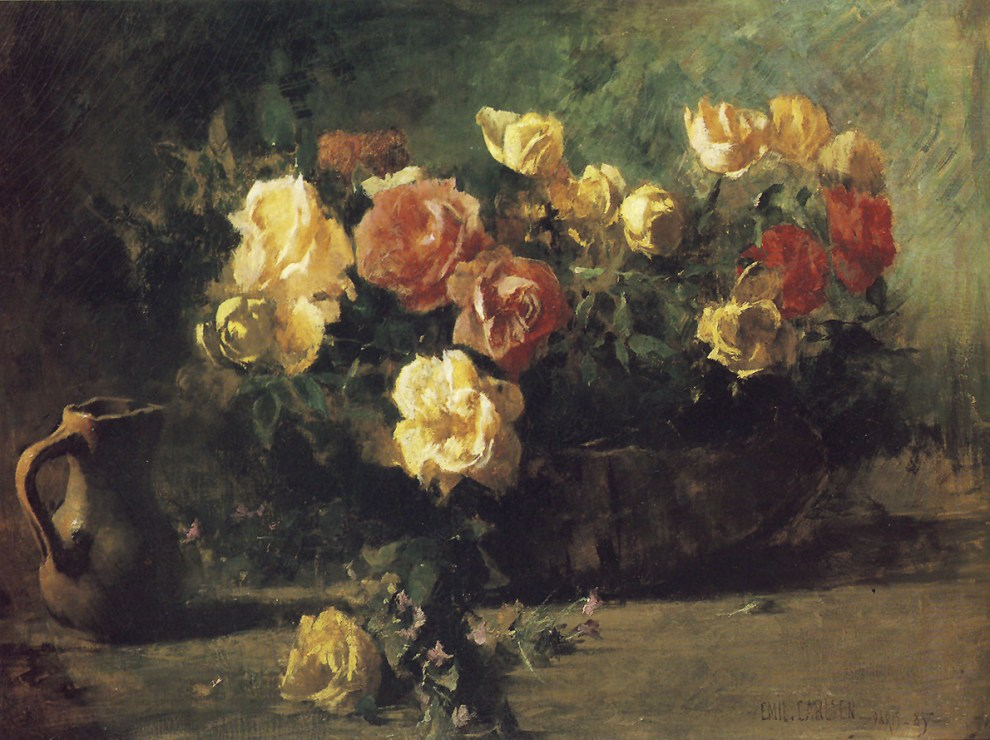 Emil Carlsen Still Life with Flowers (also called Roses), 1885