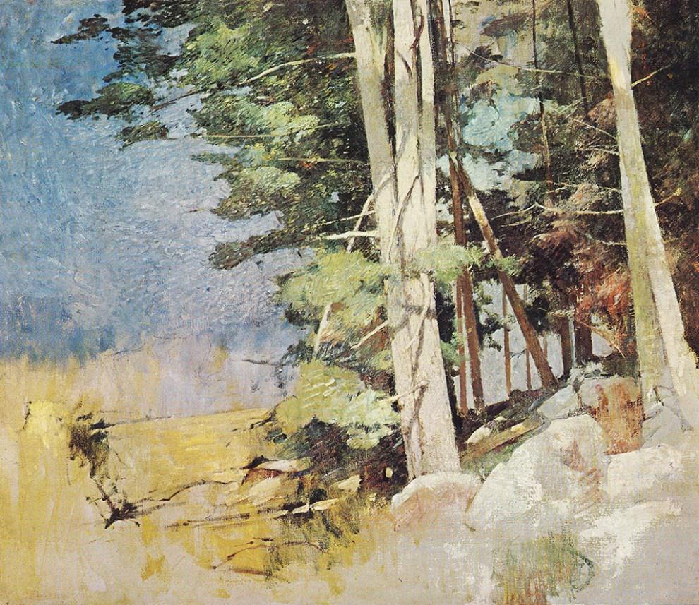 Emil Carlsen Sunlit Wood c.1928