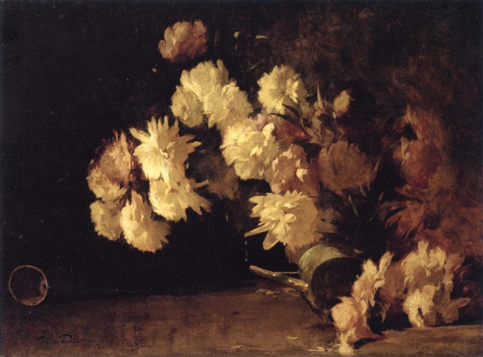 Emil Carlsen Peonies (also called Still Life with Flowers), 1882
