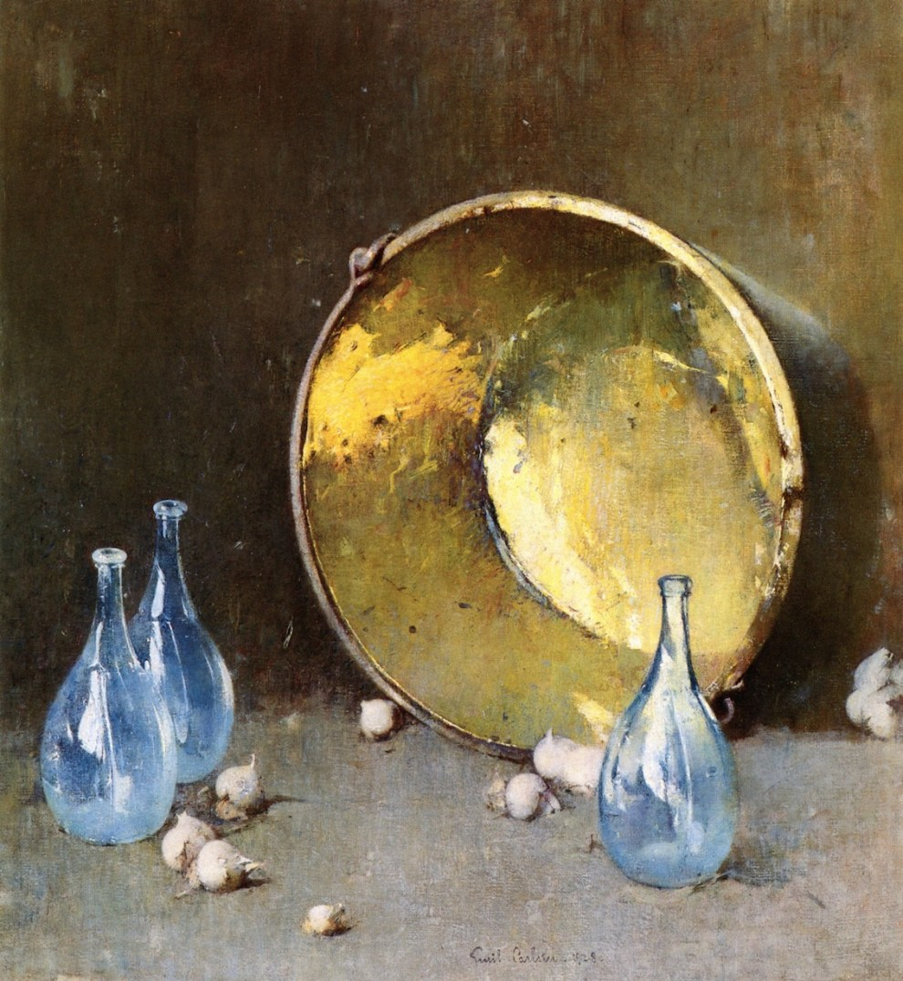 Emil Carlsen : Copper kettle, 1928.
