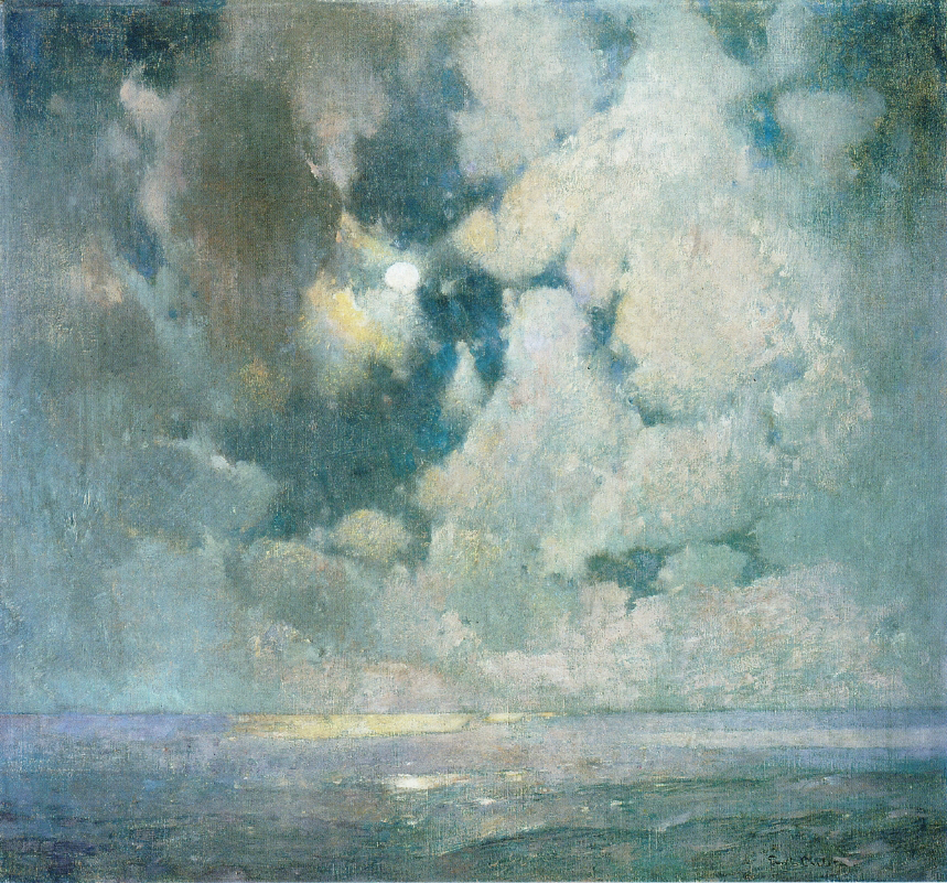 Emil Carlsen Moonlight on Ocean, c.1910