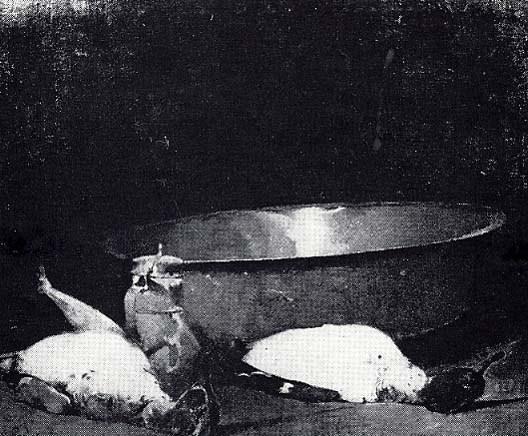 Emil Carlsen : Still life ducks and copper, ca.1897.