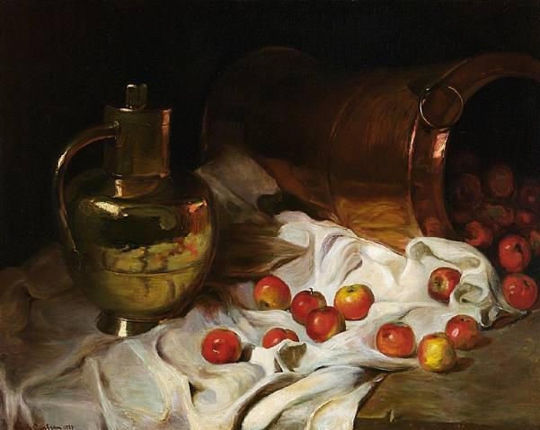 Emil Carlsen Still Life with Coppers and Apples c.1900