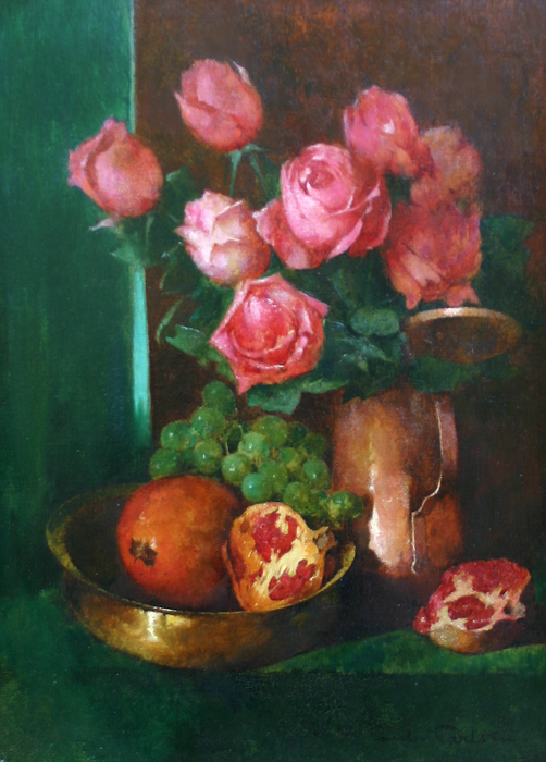 Emil Carlsen Still Life with Roses and Pomegranates, 1897