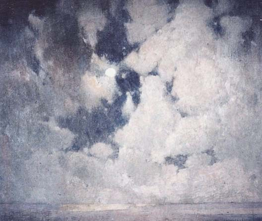 Emil Carlsen Moonlight and Ocean, c.1910