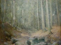 Emil Carlsen Through the Woods, Falls Village (also called Wood Interior & Pool in The Forest), CT, c.1911