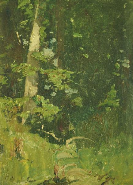 Emil Carlsen Woods (Study), c.1928