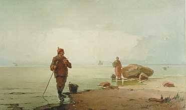 Emil Carlsen : Along the shore, Normandy, 1876.