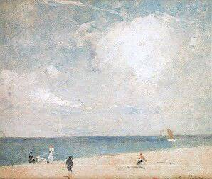 Emil Carlsen Beach Scene, c.1908 (also called By the Shore & The Bathing Beach)