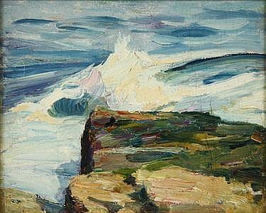 Emil Carlsen Crashing Waves, c.1914