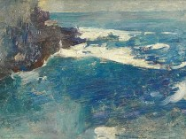 Emil Carlsen Blue Surf, Bald Head Cliff, York, Maine, c.1914