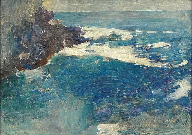 Emil Carlsen Blue Surf, Bald Head Cliff, York, Maine, c.1914