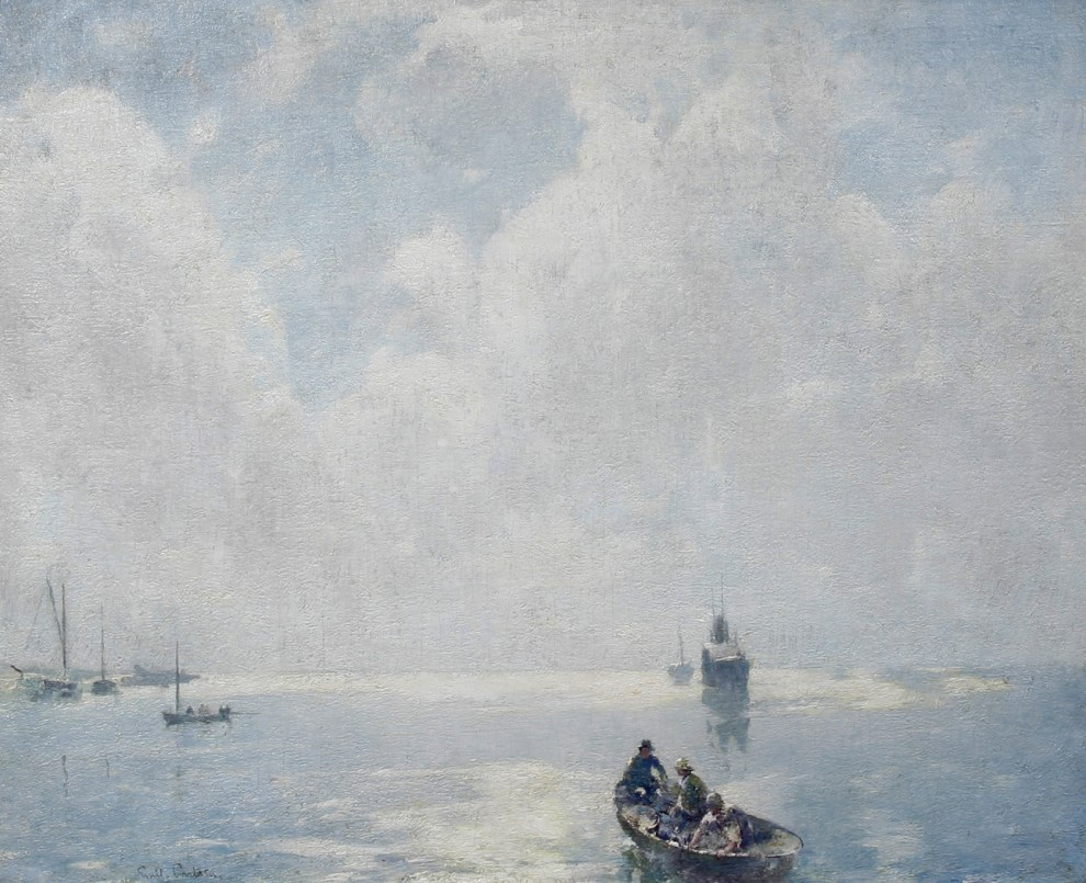 Emil Carlsen Fisherman in Vejle Habour, 1912