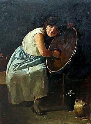 Emil Carlsen Polishing the Brass, 1885