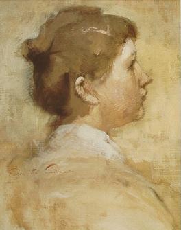 Emil Carlsen Portrait of Katherine (Katherine Langdon Corson [1869-1925] his student), c.1883