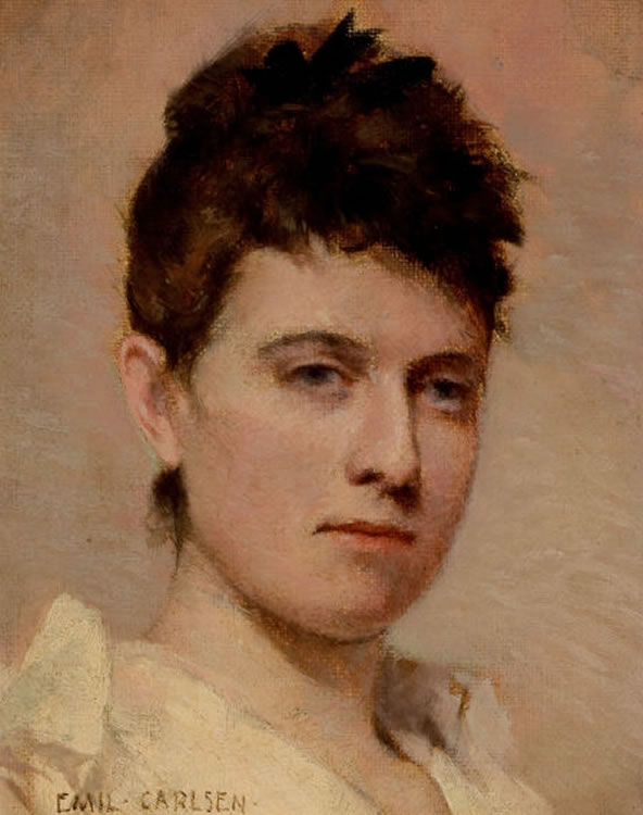 Emil Carlsen Portrait of a Young Woman, c.1884