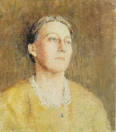 Emil Carlsen Portrait of the Artist's Wife, c.1918