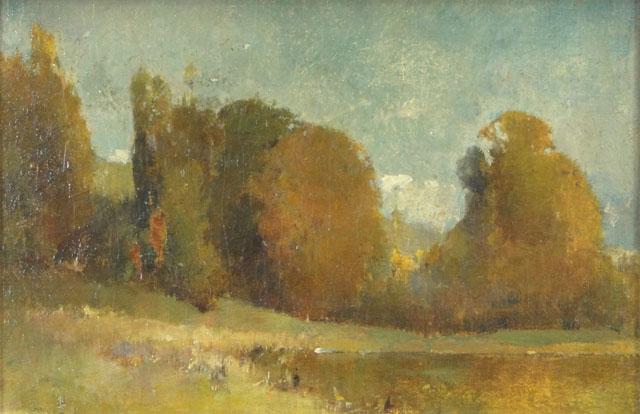 Emil Carlsen Autumn Landscape, Blue Sky, c.1910