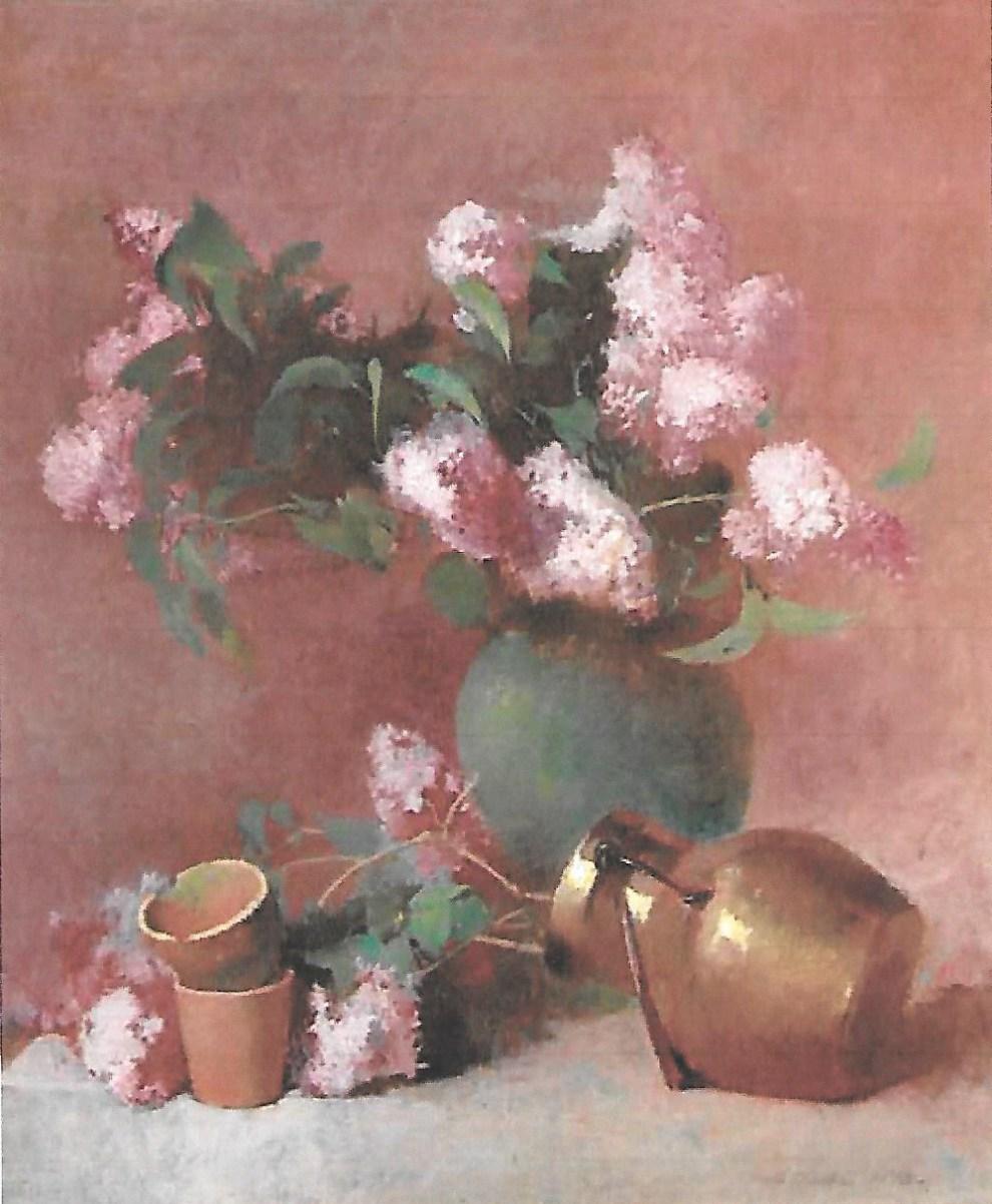 Emil Carlsen Lilacs in a Green Vase, 1892