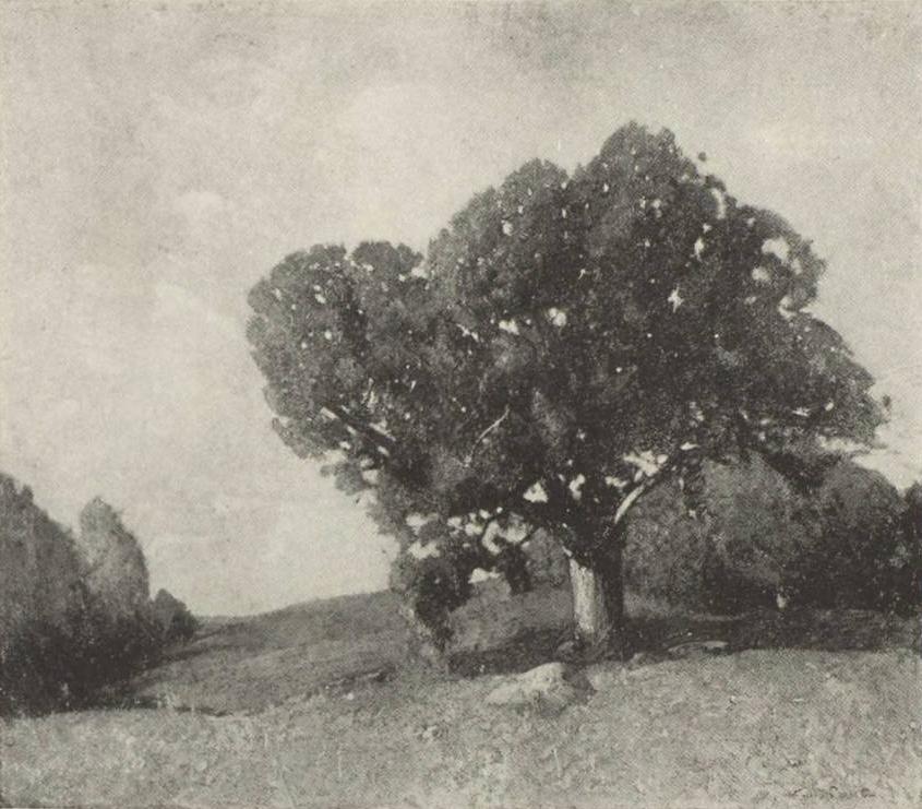 Emil Carlsen October Oaks, c.1907